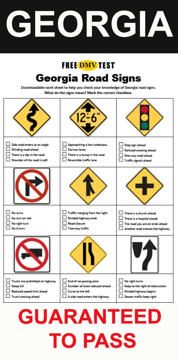 How Many Questions Are On The Georgia Driving Test