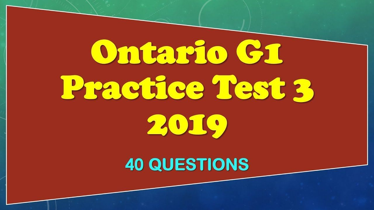 How Many Questions Are On The G1 Test Ontario