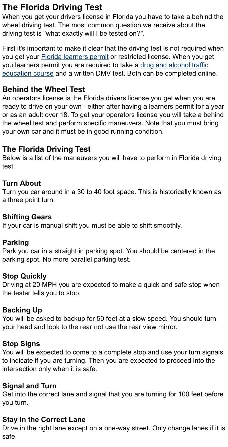 Can I Take My Drivers License Test Online In Florida