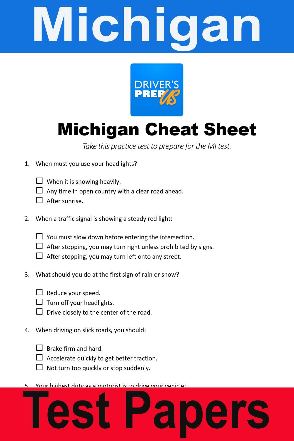 How To Pass Road Test Michigan