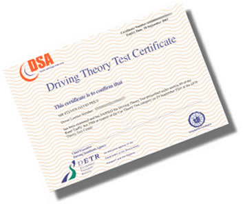 Driving Theory Test Certificate Lost