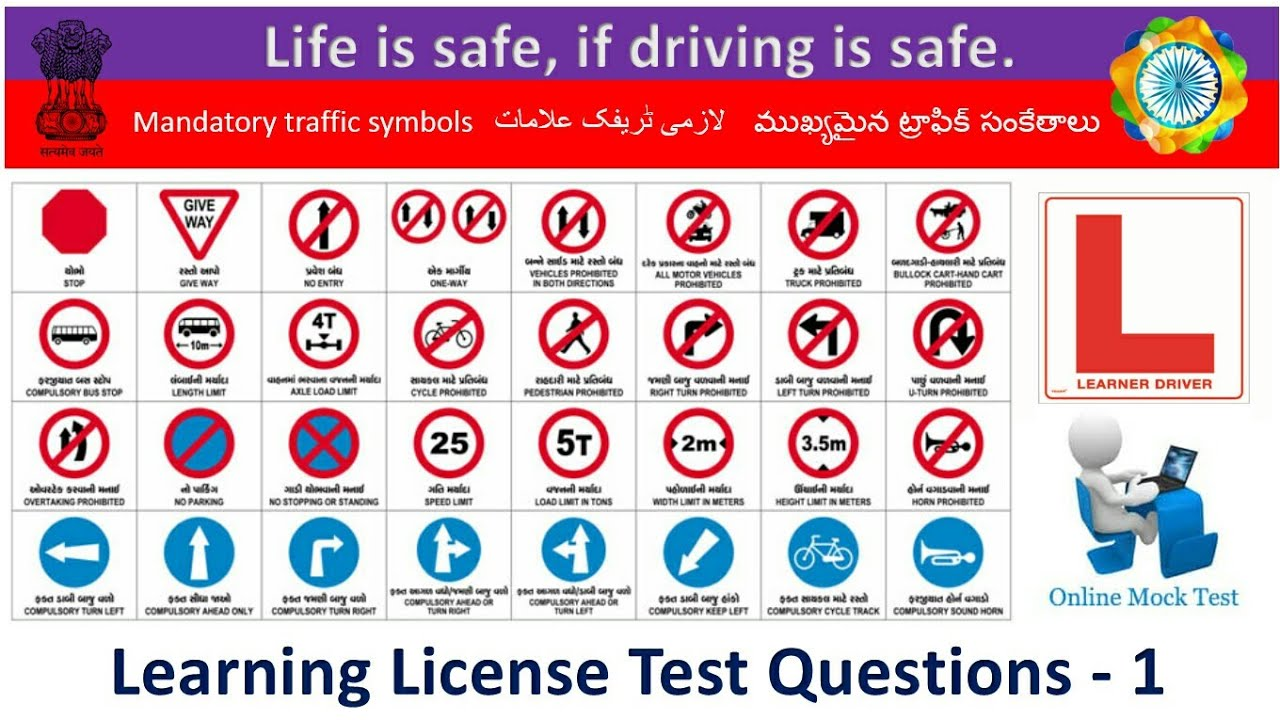 Learning Driving License Test Questions